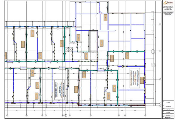 Assembly plan for prefabricated walls, installation, drawings, delivery - Laval, Montréal